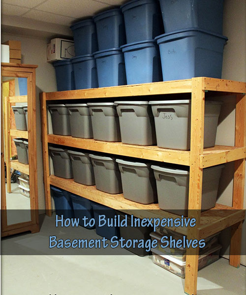 how to build your own basement storage rack
